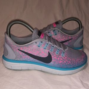 Nike Free RN Distance Womens Running Shoes 6 Gray